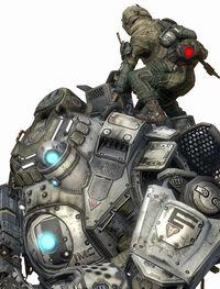 Titanfall pilot and titan