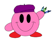 Kirby and his crayons