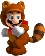 Tanooki Mario with handkerchief