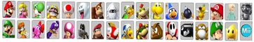 Mario Party character screen