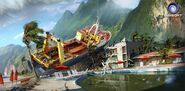 Farcry3 early-concept ship-wreck-hotel-pool tyler-west