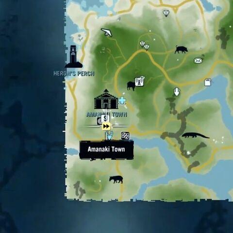 Дерявня Аманаки на карте мира