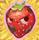 Strawberry grumpy on hay
