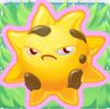 Sun grumpy on grass
