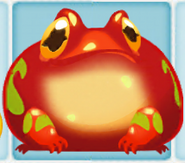 Red Frog when eating cropsies