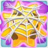 Sun grumpy under cobweb on slime