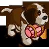 Pink St. Bernard Puppy-icon