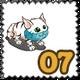 Bridal Veil Cat Stamp-icon
