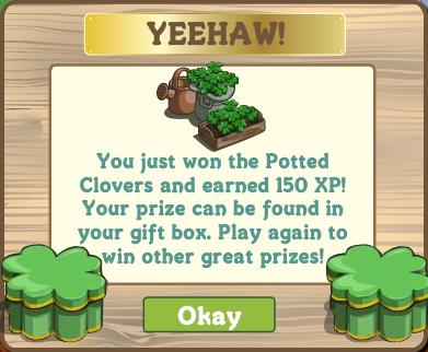 Potted Clovers Notification