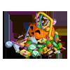 Terrifying teeming Halloween Basket