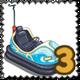 Dashing Car Stamp-icon