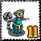 Exotic Dancer Meerkat Stamp-icon