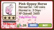 Pink Gypsy Horse Market Info
