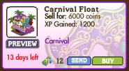 Carnival Float Market Info