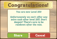 Level 251 Message