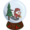 Cow Snow Globe-icon