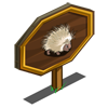 White Porcupine Mastery Sign-icon
