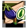Organic Eggplant Mastery Sign-icon