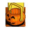 Halloween Basket placed on farm