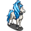 Blue Ponytail Horse-icon