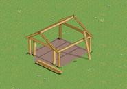 Garage Frame on a farm