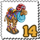 Arab Turban Camel Stamp-icon
