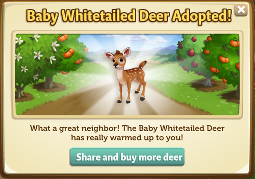 Deer Nest quest series reward - White-Tailed Deer