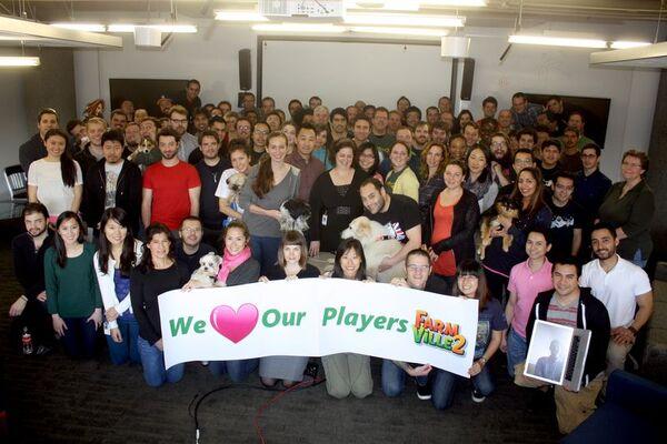 Complete FarmVille2 production team per februari 2013
