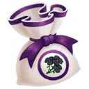 Black Pansy Scented Bag