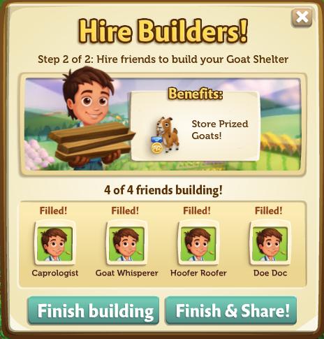 Goat Shelter building phase 2