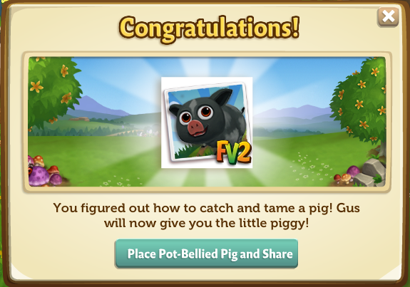 Pot-Bellied Pig reward from Easter event 2013