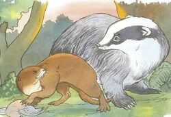 Smooth Otter and Badger