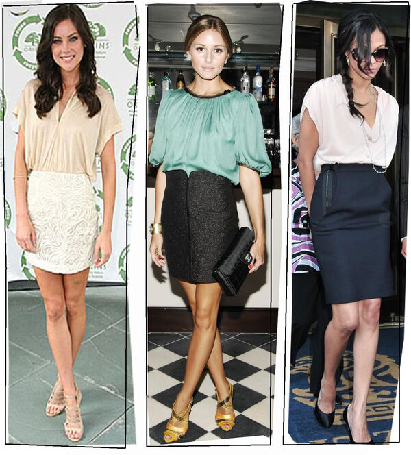 Pencil-skirt-with-blouse1