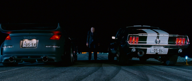 File:Fairlady Z33 & 1967 Mustang - Rear View.png