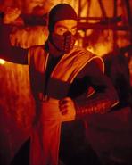 Mortal Kombat - Scorpion played by Chris Casamassa as seen in the Mortal Kombat Movie