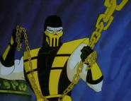 Mortal Kombat - Scorpion as seen in the Cartoon