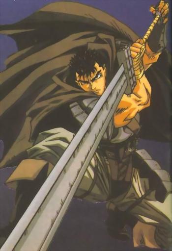 Berserk - Guts as seen wielding the Pre-Dragonslayer Sword
