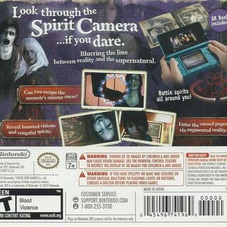 The back cover of the American box art