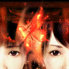 Promotional image centered around the crimson butterfly.