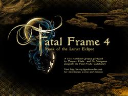 Fatal Frame IV patch splash screen1