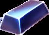 Blue metalic block