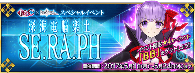 The current event in Fate Grand Order featuring the welfare servant B.B