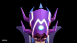 Close up of Fannihilator's helmet s2e25
