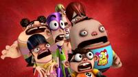 The gang horrified