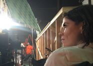 Karen Bethzabe on set