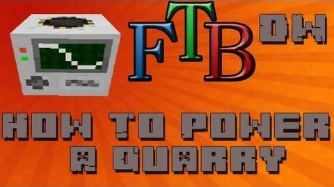 How To Power a Quarry with Electricity Feed The Beast Tutorial - Ep