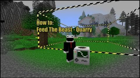 Minecraft Feed the Beast - How to Quarry