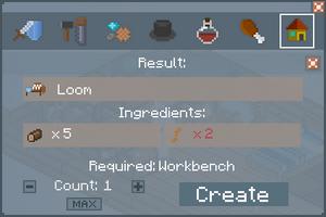 Loom - Crafting Screen