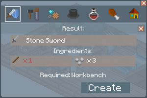 Stone Sword - Creation Screen