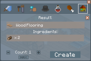 Wood Flooring - Crafting Screen